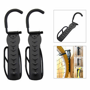 2 X Wall Mounted Mountable Cycle Storage Hook Bike Rack Space Saving Cycle Stand