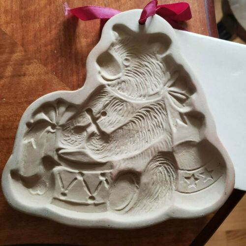VINTAGE BROWN BAG COOKIE ART MOLD WITH RECIPE BOOK