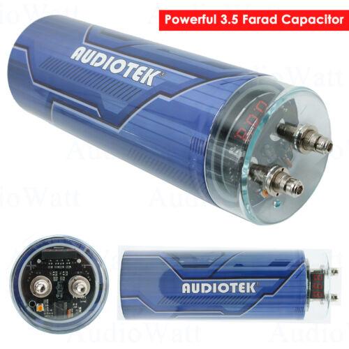 Audiotek 3500 watts 3.5 FARAD Car Audio Power Capacitor Cap Digital LED Display