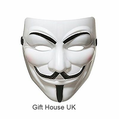 Anonymous For Vendetta Guy Fawkes Scary Party Fancy Dress Halloween Mask Costume - Scary Dresses For Halloween