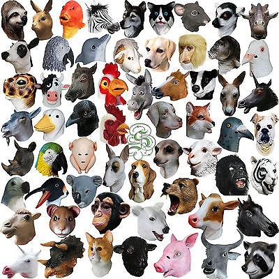 Latex Ganzer Kopf mit Kapuze Tier Kostümspiel Maskerade Kostüm Karneval Masken (Tier Maskerade Masken)