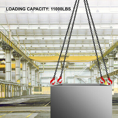 5/16 X13 Chains G80 Lifting Chain Sling 4 Legs Hook Chains Alloy Steel Rigging - $107.99