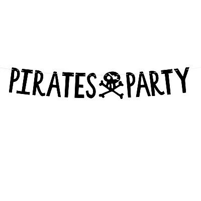 PIRATE PARTY DECORATIONS | Pirate Banner | Cheap Pirate Birthday Party Tableware - Cheap Birthday Decorations