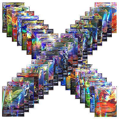 100 Pcs/Set 20Pcs GX Cards+80Pcs EX Cards English Pokemon Cards New