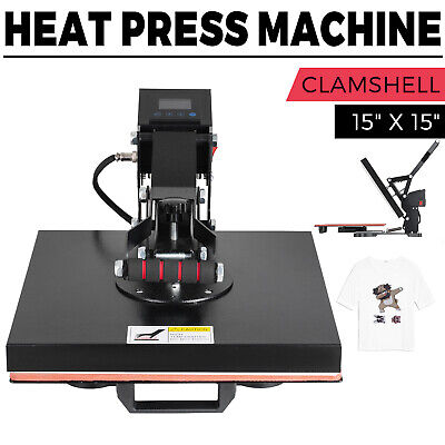 15x15 Digital Heat Press Machine T-shirts Htv Transfer Sublimation Clamshell