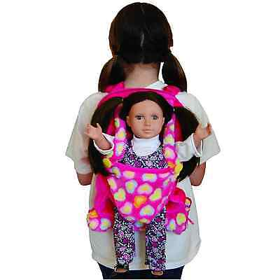 """Child's Backpack & Doll Carrier Sleeping Bag For 18"""" American Girl Clothes Pink"""