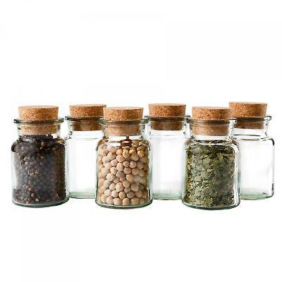 6 Gewürzgläser 150ml + Korken, Tee Kräuter Gewürze Gewürzdose Korkenglas Glas online kaufen