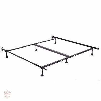 King Size Platform Bed Frame Glides Metal Bedframe Queen Rails Home Furniture - Leggett Platt Bed Rails