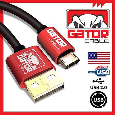 Reversible Micro USB Cable Cord Charger Sync Data Samsung S3 S4 S6 S7 LG HTC 6FT