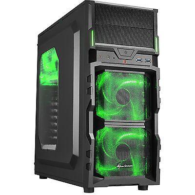Sharkoon VG5-W green, Tower-Gehäuse, schwarz