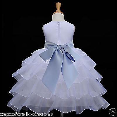 WHITE WEDDING PAGEANT FLOWER GIRL DRESS ORGANZA MEDIUM 2 2T 3 3T 4 4T 5 6 7 8 10](White Organza Flower Girl Dress)