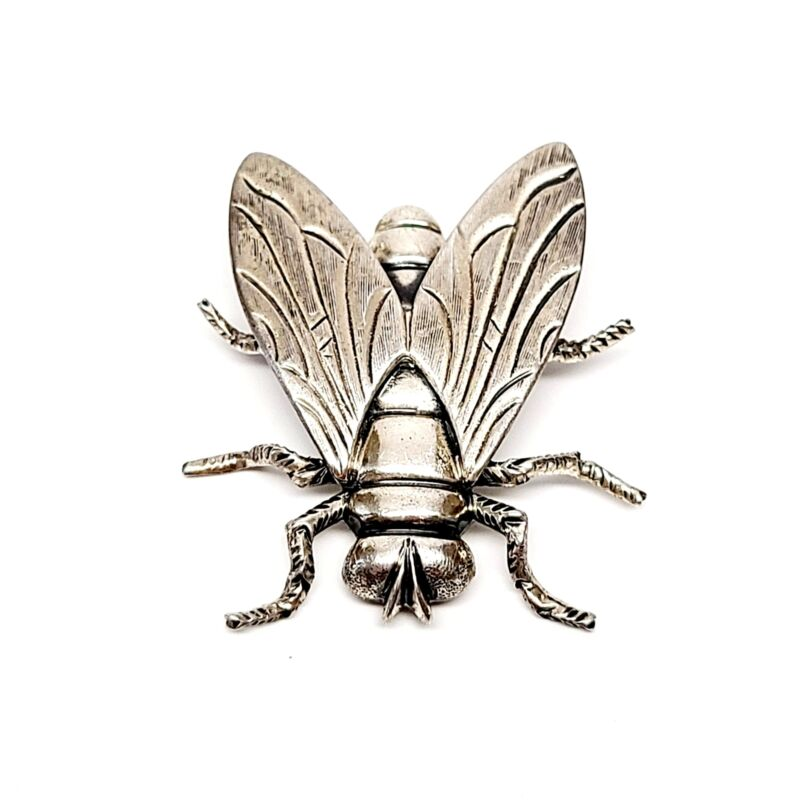 Vintage Beau Sterling Silver Large Fly Pin #7638