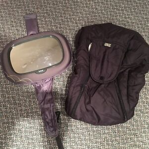 Baby rear view mirror and infant car seat cover