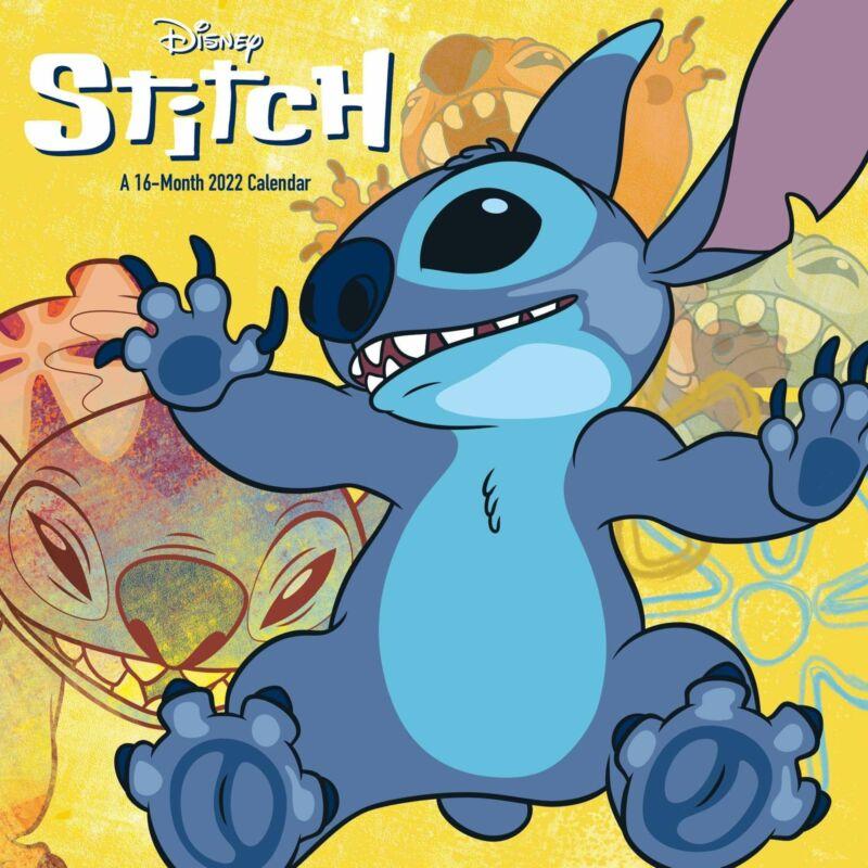 Walt Disney Stitch (Lilo & Stitch) Art 16 Month 2022 Wall Calendar NEW