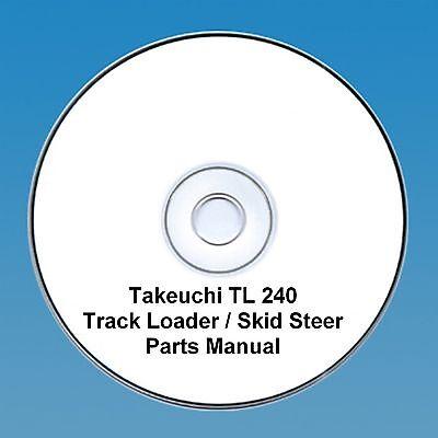 Takeuchi  TL240 TL 240 Skid Steer / Tracked loader Parts Manual