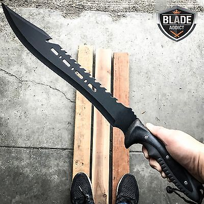 "25"" FULL TANG HUNTING SURVIVAL FIXED BLADE MACHETE TACTICAL Rambo Knife Sword"