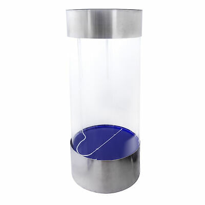 Full Acrylic 360 Cylinder Aquarium Tank w/ Stainless Steel Trim 55 Gallons