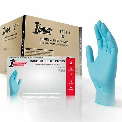 1st Choice Blue Nitrile Industrial Latex Free Disposable Gloves Case Of 1000