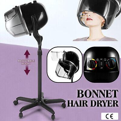 Pro Bonnet Réglable Sèche-Cheveux Minuterie Capot Pivotant Roulette Salon Beauté Stand Up