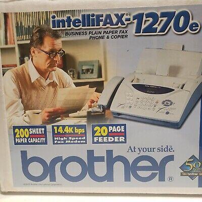 Brother Intellifax-1270e Plain Paper Fax Phone Copier New In Box