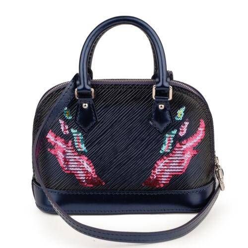 NEW Rare LOUIS VUITTON Alma Nano Flamenco Leather Sequins Flames Shoulder Bag