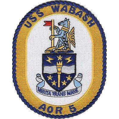 USN  USS Wabash  AOR5 Oiler ship in Vietnam MILITARY PATCH