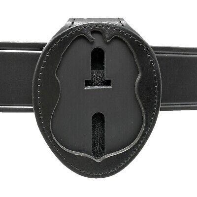 Tsa Homeland Security Police Clip On Belt Around Neck Leather Badge Holder