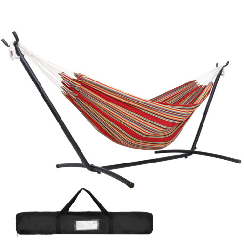 9ft Hammock with Stand for 2 person with Carrying case Outdoor Patio Use Hammocks