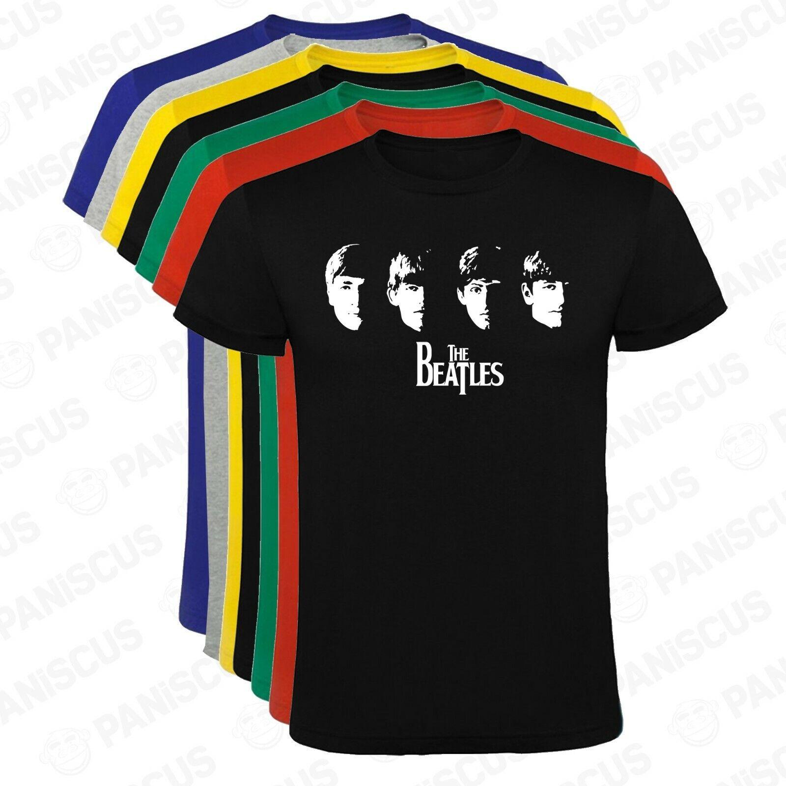 Camiseta hombre The Beatles caras tallas y colores