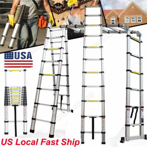 17 FT Step Ladder Extension Telescoping Lightweight Portable