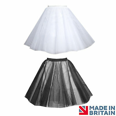 OLL BLACK 4 LAYERS NET SKIRT CIRCLE UNDER SKIRT PETTICOAT (Plus Size Petticoat Rock)