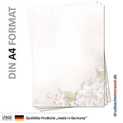 25 Blatt Motivpapier-5093 DIN A4 Sommerblüten Briefpapier