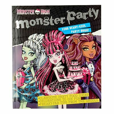 Monster High Monster Party Guide Book Recipes & Games Paperback 64 Pages KIDS](Monster High Party Games)
