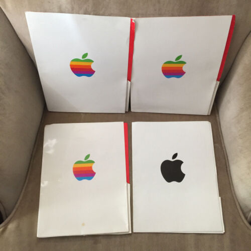 Vintage Apple Computer Folders Rare Collectable Lot of 4