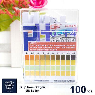 100pcs Ph Indicator Test Strips 0-14 Laboratory Paper Litmus Tester Urine Saliva
