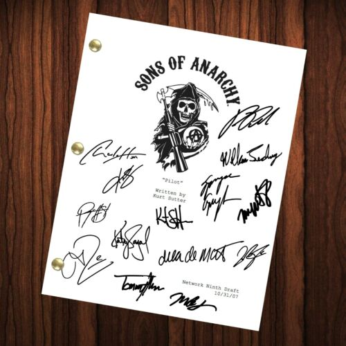 Sons Of Anarchy Autographed Signed TV Show Script Pilot Episode Full Screenplay