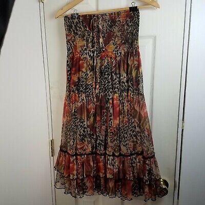 Anthropolgie Lapis Convertible Skirt or Tube Dress Animal Print Size Small S EUC Animal Print Tube Dress