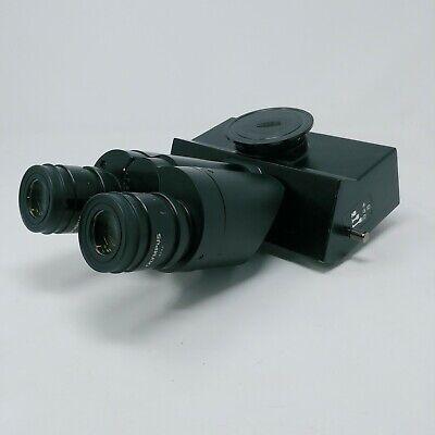 Olympus Microscope Superwide Trinocular Head U-swtr With Eyepieces Swh10x-h26.5