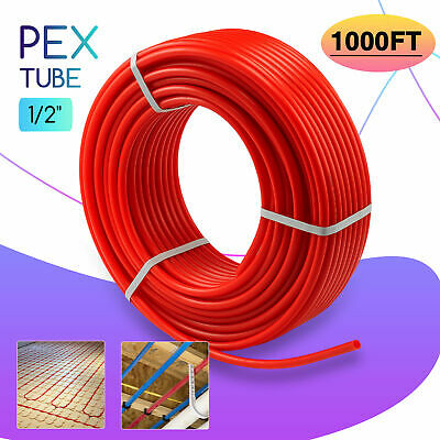 12 In. Pex Pipe 1000ft Tubing Pex-b Plumbing Tube For Radiant Floor Heating
