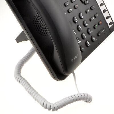 2m en Espiral Auricular de Teléfono RJ10 Cable Blanco