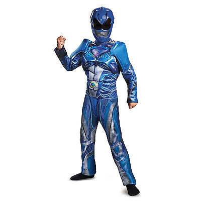 Disguise Blue Power Ranger Movie Boys Classic Muscle Costume (Classic Power Ranger Costumes)
