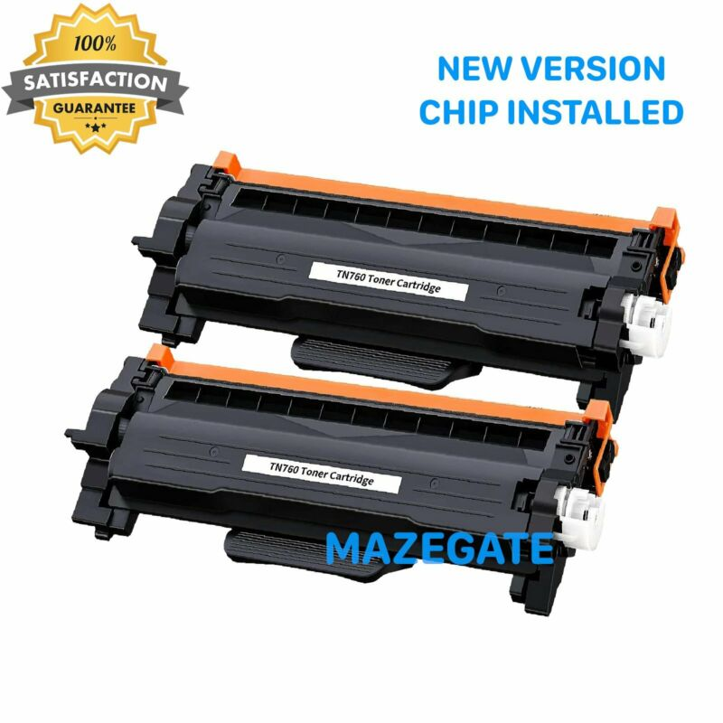 2PK TN760 TN730 Toner Cartridge for Brother HL-L2350DW HL-L2370DW DCP-L2550DW