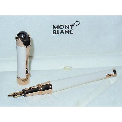 Open Box* Montblanc Etoile Sand Diamond Fountain Pen Red Gold 18K Nib M 113836