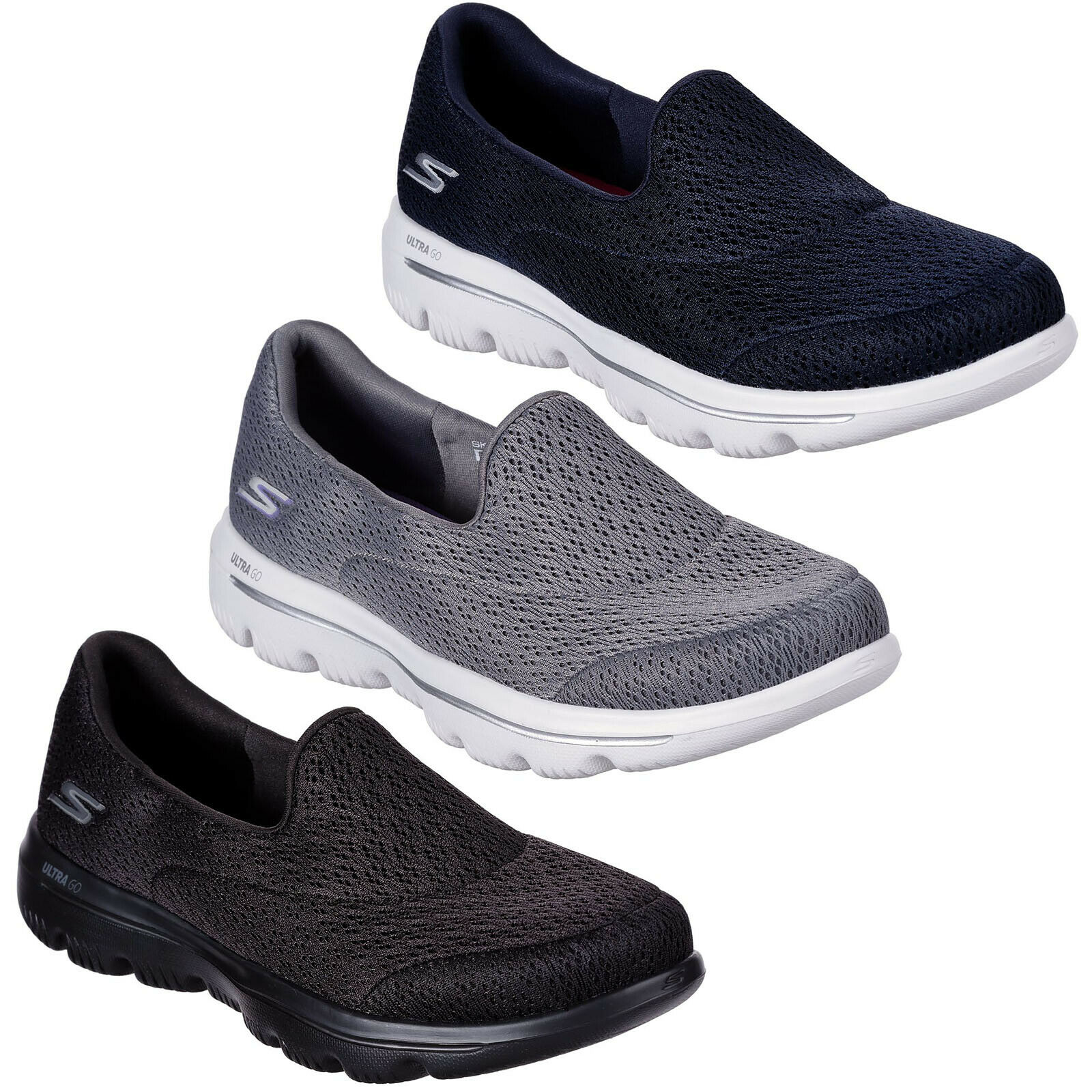 a6082d9fd5d65 Details about Skechers GoWalk Evolution Ultra - Persist Trainers Womens  Lightweight Shoe 15738