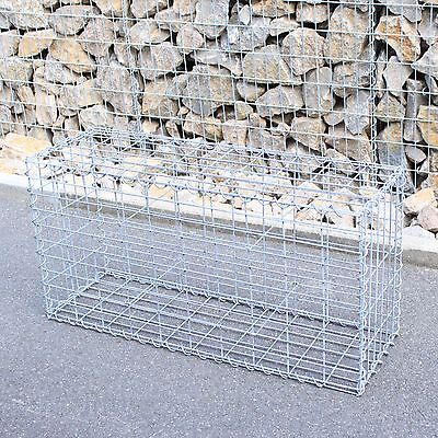Gabione 100x50x30 cm Steingabione Steinkorb Gabionen Drahtkorb