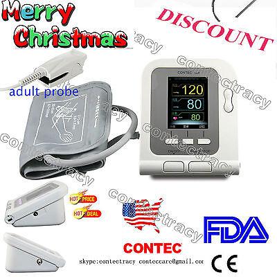 Us Arm Digital Blood Pressure Monitornibpheart Beat Meterprobecuffswcefda