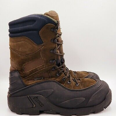 Rocky Mens 1200 Gram Insulated Waterproof Boots Size 11 Black Brown B435