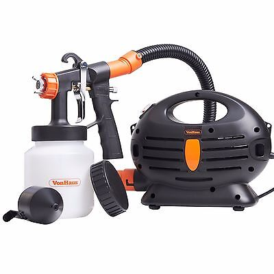 VonHaus 850W Electric Paint Sprayer Indoor Varnish Lacquer Fence Garden Stain