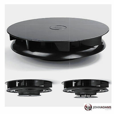 Rotary Wind Driven BLACK Roof Vent Low Profile Van Dog Pet Horse Vehicle Pickup