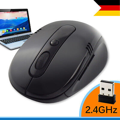 Wireless USB Gaming Maus PC Kabellose Mouse Computer Laptop Notebook
